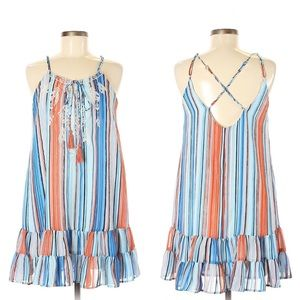 NWT | Chelsea & Violet | Embroidered Striped Dress